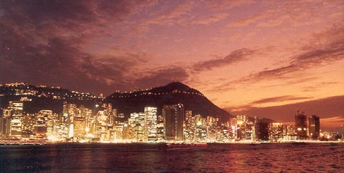 Hong Kong night scene 1985