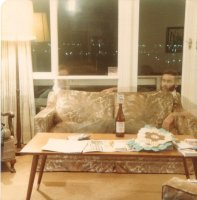 Man on couch, Forestville, Oct 1979